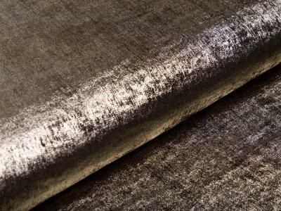 Webware Baumwollsatin Metallic - olivgrün