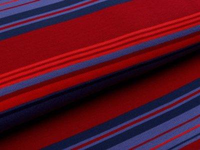 Jersey Strickstoff Milliblu´s - Streifen - jeansblau
