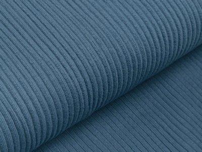 Rippstrick-Bündchen Swafing Heiko HW21/22 im Schlauch 70 cm - uni jeansblau
