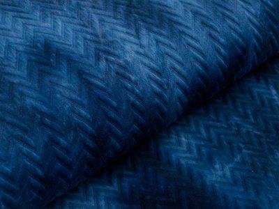 Stepper Jackenstoff - Batik-Zopfmuster - indigo