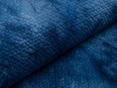 Stepper Jackenstoff - Batik-Kreismuster - indigo