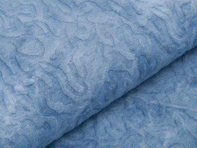Jersey Jacquard - Batikoptik - blau