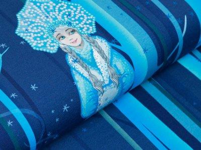 Sweat French Terry Digitaldruck Stenzo PANEL ca. 75 cm x 150 cm - frostige Eiskönigin - blau