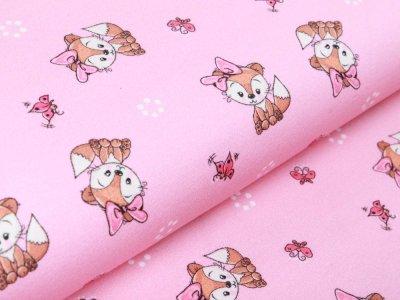 Sweat French Terry - süße Fuchsmädchen - rosa