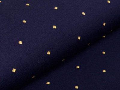 Sweat French Terry Digitaldruck Stenzo Lovely Dottie - mini Rauten - marine