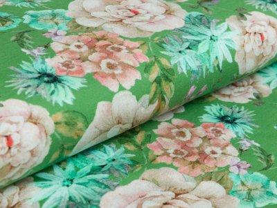 Jersey - Hortensien - grün