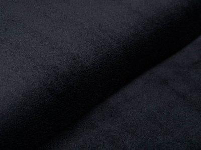 Wellnessfleece Teddyplüsch - uni schwarz