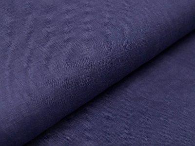 Leinen WASHED LINEN - uni jeansblau