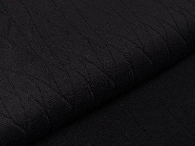 Struktur-Strickstoff - Abstraktes-Muster - uni schwarz