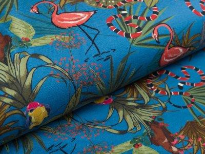 blau Vögel Jersey
