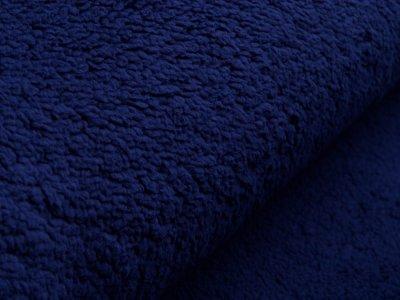 Lammfellimitat Teddy Zottel - dunkles blau