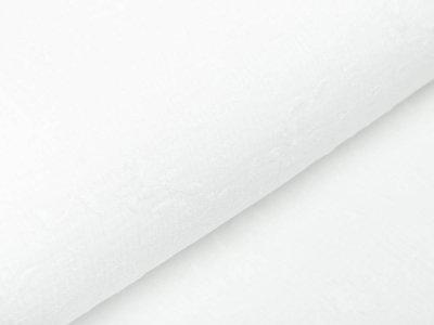 Musselin Baumwolle Double Gauze - aufgestickte Blumenranken - wollweiß
