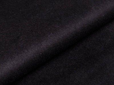 Wollstoff Mantelflausch - uni schwarz