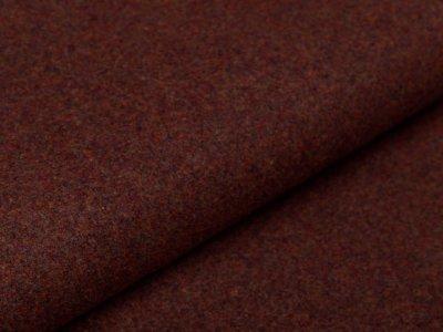 Wollstoff Walkloden Mantel - meliert braun