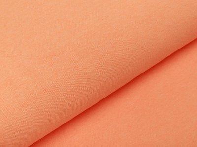Glattes Bündchen Ribana im Schlauch - meliert neonorange