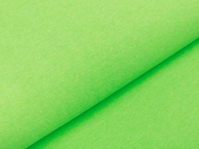 Glattes Bündchen Ribana im Schlauch - meliert neongrün