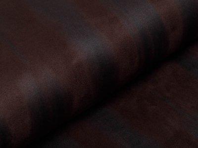 Wildlederimitat mit Foliendruck - Animalprint - braun