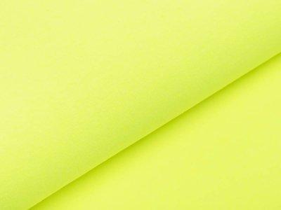 Glattes Bündchen Ribana im Schlauch - meliert neongelb