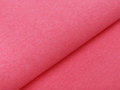 Glattes Bündchen Ribana im Schlauch - meliert neonpink