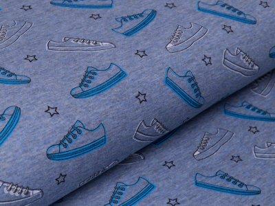 Alpenfleece - Sneakers - meliert blau