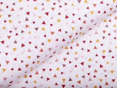 Webware Popeline Baumwolle - Dreiecke - wollweiß