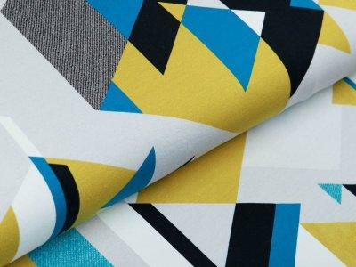 Sweat French Terry Swafing Streetstyle by lycklig design - Dreieckes-Muster - grau/ocker