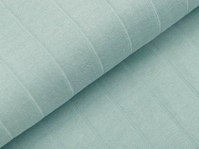Musselin Baumwolle Hydrofiel Double Gauze - Karo-Optik - uni helles mint