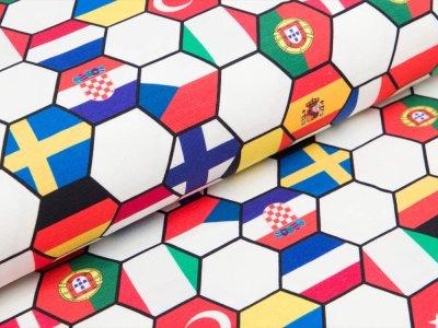Jersey Fußball Digital- Landesflaggen in Wabenoptik - weiß