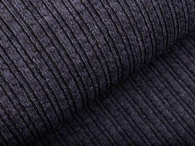 Wollstoff - kleines Zopfmuster - uni grau