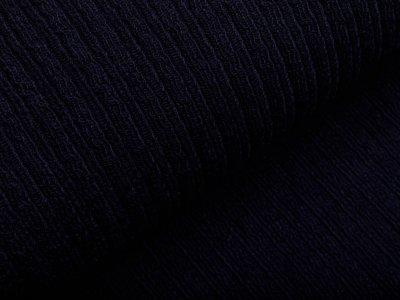 Wollstoff - kleines Zopfmuster - uni nachtblau