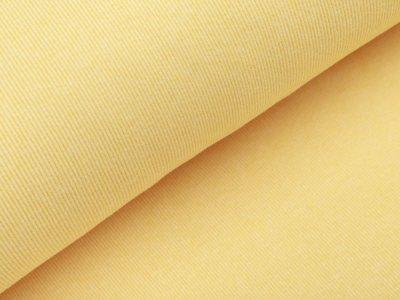 Geripptes Bündchen im Schlauch - meliert gelb