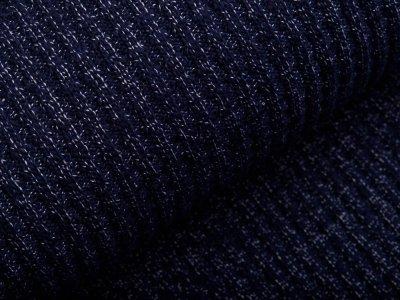 Strickstoff Baumwolle - meliert nachtblau