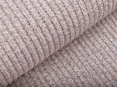 Strickstoff Baumwolle - meliert beige