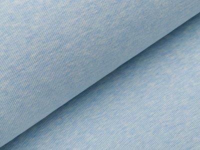 Geripptes Bündchen im Schlauch - meliert blau