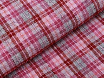 Webware Baumwolle Crinkle - Karooptik - grau