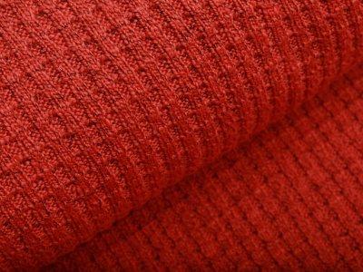 Strickstoff Baumwolle - meliert terrakotta
