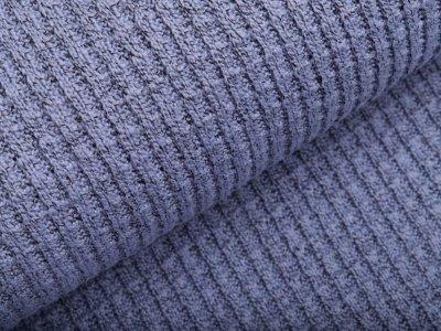 Strickstoff Baumwolle - meliert jeansblau