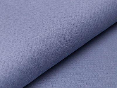 Jersey Jacquard - Relief Blüten - jeansblau