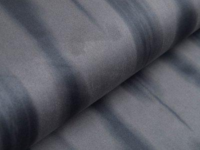Wildlederimitat mit Foliendruck - Animalprint - grau