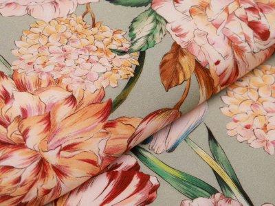 Webware Viskose - große Blumen - altmint