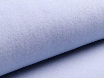 Baumwollfleece Organic Cotton - uni helles blau