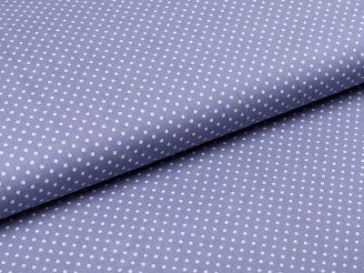 Webware Baumwolle Popeline -  mini Punkte - helles grau
