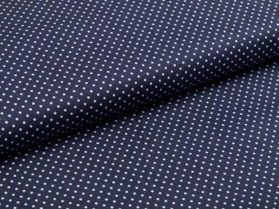 Webware Baumwolle Popeline -  mini Punkte - dunkles grau