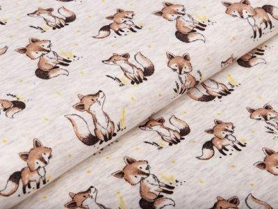 Alpenfleece - verschiedene Füchse - meliert wollweiß
