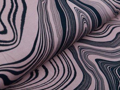 Sweat French Terry Modal Swafing Stone Layers by Thorsten Berger - stilisierte Gesteinsschichten - altrosa