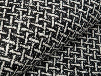 Jacquard - Criss Cross - schwarz/weiß