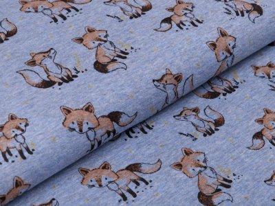 Alpenfleece - verschiedene Füchse - meliert blau