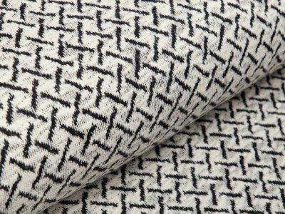 Jacquard - Criss Cross - weiß/schwarz