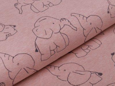Alpenfleece - Babyelefanten - meliert rosa