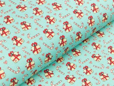 Jersey Eigenproduktion KDS KaZuMi - Christmas is coming - Kombi - hellblau